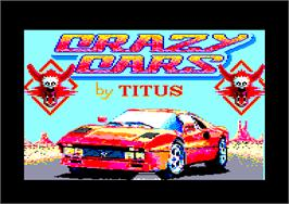 Title screen of Crazy Cars on the Amstrad CPC.
