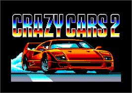 Title screen of Crazy Cars 2 on the Amstrad CPC.