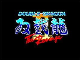 Title screen of Double Dragon II - The Revenge on the Amstrad CPC.
