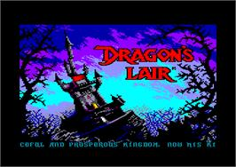 Title screen of Dragon's Lair on the Amstrad CPC.