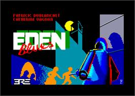 Title screen of Eden Blues on the Amstrad CPC.