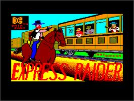 Title screen of Express Raider on the Amstrad CPC.