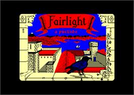 Title screen of Fairlight: A Prelude on the Amstrad CPC.