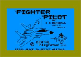 Title screen of Fighter Pilot on the Amstrad CPC.