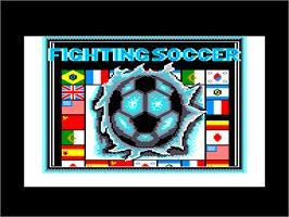 Title screen of Fighting Soccer on the Amstrad CPC.