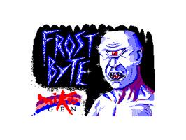 Title screen of Frost Byte on the Amstrad CPC.