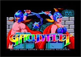 Title screen of Gauntlet on the Amstrad CPC.