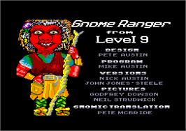 Title screen of Gnome Ranger on the Amstrad CPC.