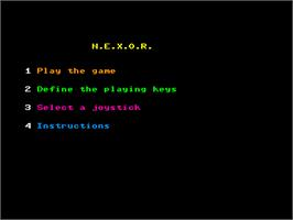 Title screen of HERO on the Amstrad CPC.