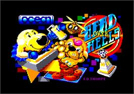 Title screen of Head Over Heels on the Amstrad CPC.
