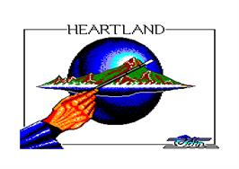 Title screen of Heartland on the Amstrad CPC.