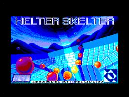 Title screen of Helter Skelter on the Amstrad CPC.