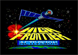 Title screen of High Frontier on the Amstrad CPC.