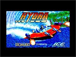 Title screen of Hydra on the Amstrad CPC.