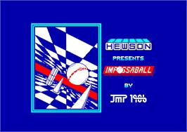 Title screen of Impossaball on the Amstrad CPC.