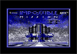 Title screen of Impossible Mission 2 on the Amstrad CPC.