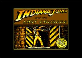 Title screen of Indiana Jones and the Last Crusade: The Action Game on the Amstrad CPC.