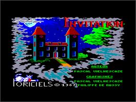 Title screen of Invitation on the Amstrad CPC.