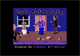 Title screen of Jack the Nipper on the Amstrad CPC.