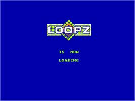 Title screen of Loopz on the Amstrad CPC.