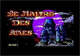Title screen of Maître des Âmes on the Amstrad CPC.