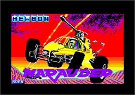 Title screen of Marauder on the Amstrad CPC.