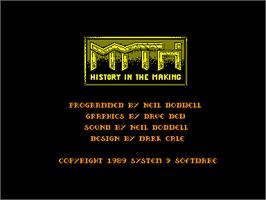 Title screen of Myth: History in the Making on the Amstrad CPC.