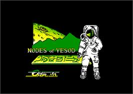 Title screen of Nodes of Yesod on the Amstrad CPC.