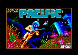 Title screen of Pacific on the Amstrad CPC.