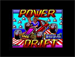 Title screen of Power Drift on the Amstrad CPC.
