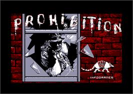 Title screen of Prohibition on the Amstrad CPC.