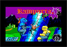 Title screen of Ramparts on the Amstrad CPC.