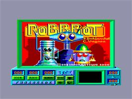 Title screen of Robbbot on the Amstrad CPC.