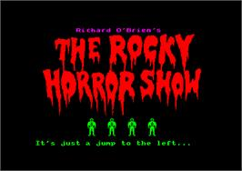Title screen of Rocky Horror Show on the Amstrad CPC.