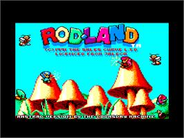Title screen of Rodland on the Amstrad CPC.