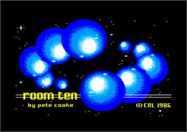 Title screen of Room Ten on the Amstrad CPC.
