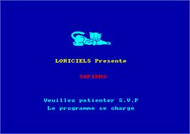 Title screen of Sapiens on the Amstrad CPC.