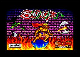 Title screen of Savage on the Amstrad CPC.