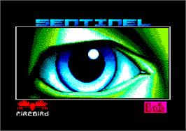Title screen of Sentinel on the Amstrad CPC.