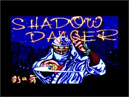 Title screen of Shadow Dancer on the Amstrad CPC.