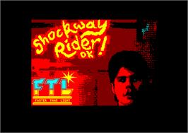 Title screen of Shockway Rider on the Amstrad CPC.
