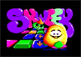 Title screen of Skweek on the Amstrad CPC.