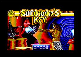 Title screen of Solomon's Key on the Amstrad CPC.