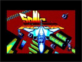 Title screen of Sonic Boom on the Amstrad CPC.