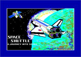 Title screen of Space Shuttle: A Journey into Space on the Amstrad CPC.