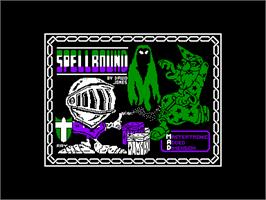 Title screen of Spellbound on the Amstrad CPC.