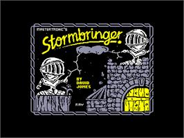 Title screen of Stormbringer on the Amstrad CPC.