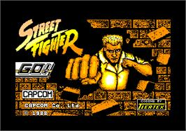 Title screen of Street Fighter on the Amstrad CPC.
