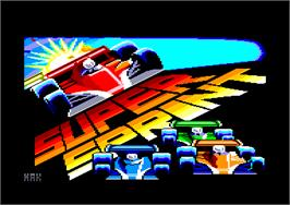 Title screen of Super Sprint on the Amstrad CPC.