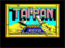 Title screen of Taipan on the Amstrad CPC.